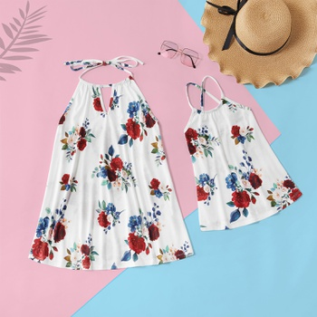 Floral Printed Tops for Mom and Me in Spring or Summer