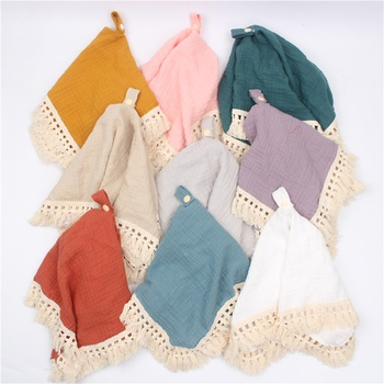 Cotton Gauze Baby Security Blanket