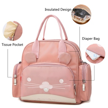 Fashion Diaper Bag Cartoon Design Large Capacity Multifunctional Maternity Baby Changing Bags