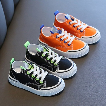 Toddler / Kid Colorblock Tie Canvas Shoes