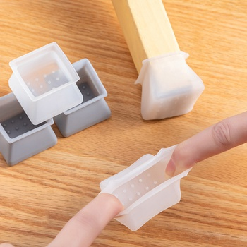 16 Pack Square Shape Non-Slip Silicone Table and Chair Foot Cover Floor Protector
