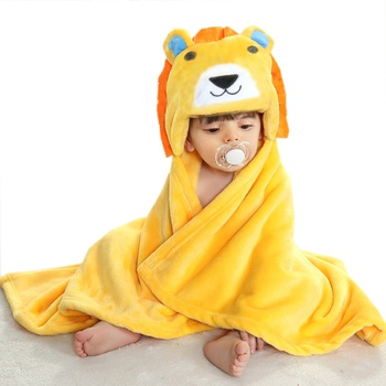 Super Absorbent Lion Design Blanket Bath Towel