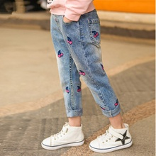 Cherry Embroidered Jeans for Kid