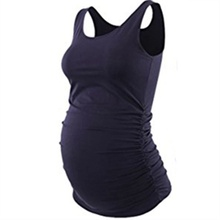 Casual Solid Maternity Tank