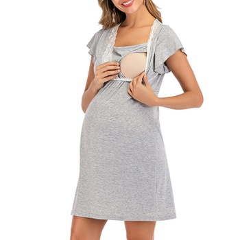 Maternity Plain Home Dress