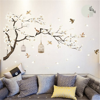 Tree Bird Design Wall Sticker
