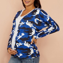 Maternity Camouflage full print Coat