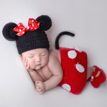 Newborn Photography Props Cute Mouse Photography Clothes