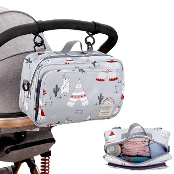 Cartoon Baby Stroller Bag Large Capacity Diaper Bags Outdoor Hanging Carriage Mommy Bag