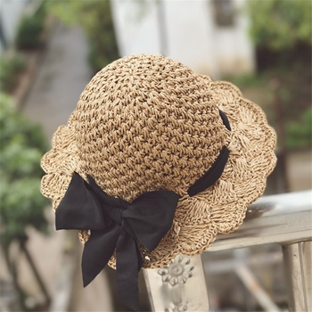 Toddler / Kid Bowknot Sunproof Straw Hat