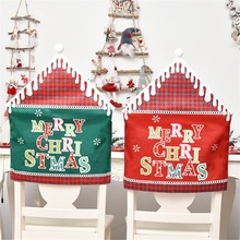 1-pc Christmas Decoration Chair Covers Dining Seat Home Seat Cover Santa Claus Home Party Decor