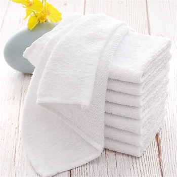 5-pcs Baby White Square Cotton Face Hand Car Cloth House Cleaning Towel Toddler