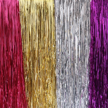2-pcs Colorful Curtain Party Background Wall Christmas Door CurtainBackground Decorative