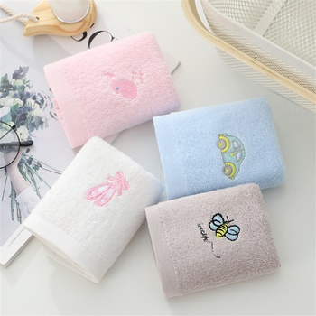 4PCS Cute Cartoon Baby Washing Towel