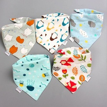 5-pack Three-layer Waterproof Cute Bibs Set