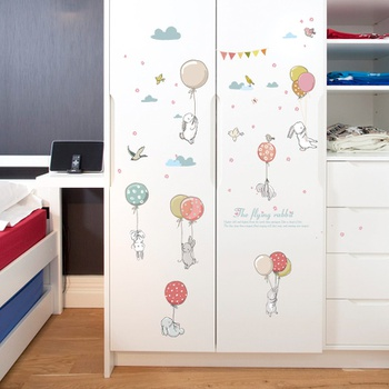 Animal With Balloon Sticky Wall Decor