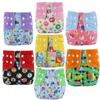 Cute Cartoon Baby Washable Adjustable Cloth Diaper Waterproof Breathable Eco-friendly Diaper