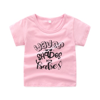 Baby Girl Casual Letter Tee