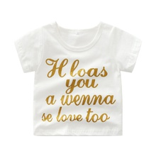 Baby Unisex Casual Letter Tee