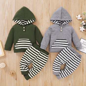 Baby Boy Casual Stripes Baby's Sets