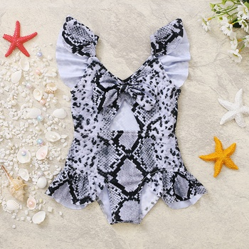 1pc Baby Girl Stripes Swimsuit