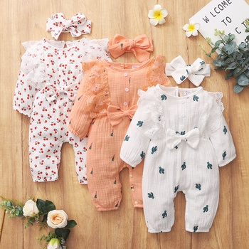 Baby Girl Sweet Lace Jumpsuits