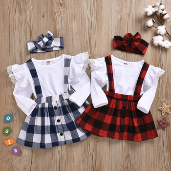 Baby Girl Plaid Suit-dress