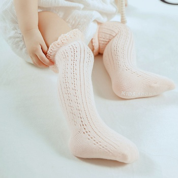 Baby Girl Letter Print Solid Antiskid Stockings