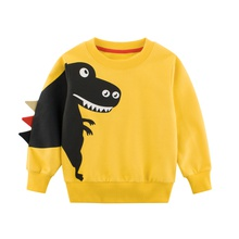 Dinosaur Print Long-sleeve Sweatshirt For Boys