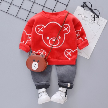 Baby / Toddler Boy Bear Print Sweatshirt and Pants Set