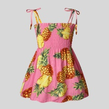 Baby Pineapple Allover Print Dresses