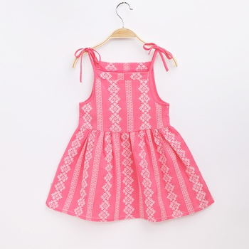 Baby Adorable Solid Strappy Dresses