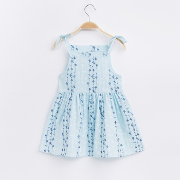 Baby Solid Strappy Dresses