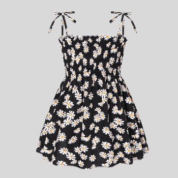 Baby Daisy Allover Print Strappy Dresses