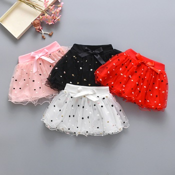 Baby Sweet Polka Dots Mesh Skirt