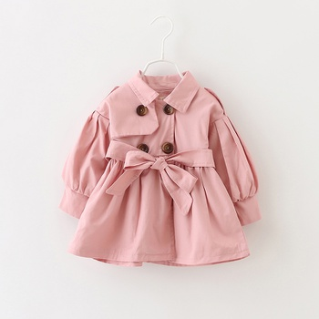 Baby Girl casual Long-sleeve Cotton  Coat & Jacket
