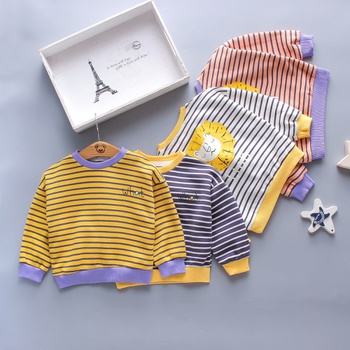1pc Baby Boy Long-sleeve Cotton casual & Lion Pullovers & Hoodies