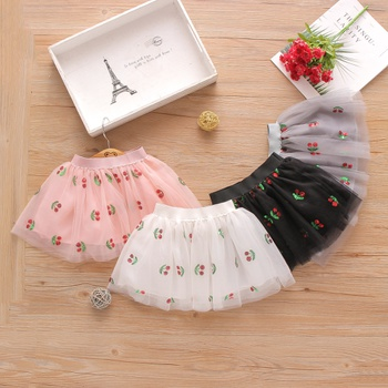 Baby Girl Cherry Sweet Skirts Tutu dress Cotton Baby Outfits