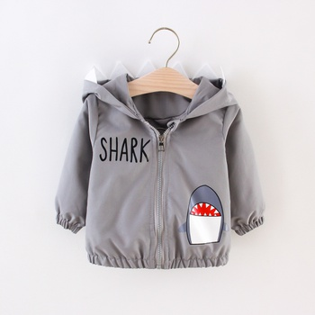 1pcs Baby Boy Long-sleeve Print Animal Letter Tops Coat&Jacket