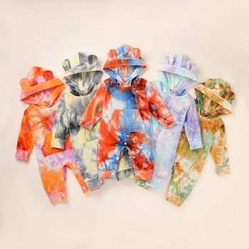 Baby Tie-dyed Hooded Jumpsuit