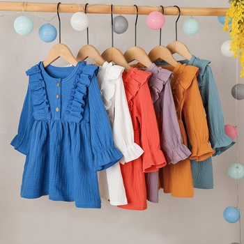 Baby / Toddler Sweet Ruffled Collar Stretch Cuff Dresses