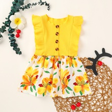 Baby / Toddler Floral Ruffled Dress