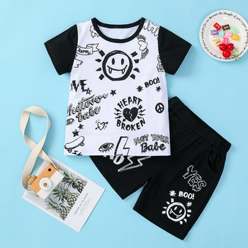 Baby / Toddler Boy Cutie Graffiti Tee and Shorts Set