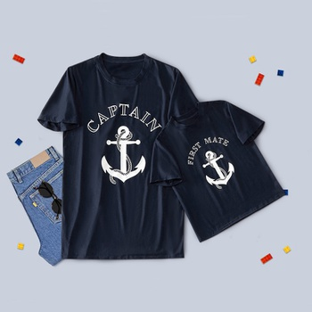 Captain Print T-shirts for Daddy and Me