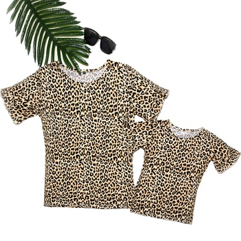 Leopard Print T-shirts for Mommy and Me