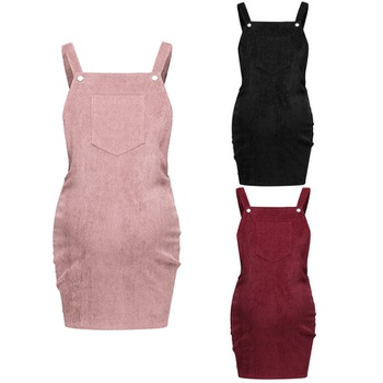 Casual Solid Maternity Strap Dress