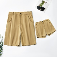 Pure Khaki Shorts for Daddy and Me