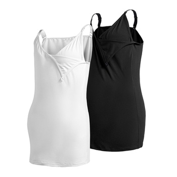Basic Solid Nursing Tank Top