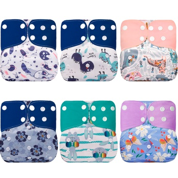 Cute Baby Washable Adjustable Cloth Diaper Waterproof Breathable Eco-friendly Diaper