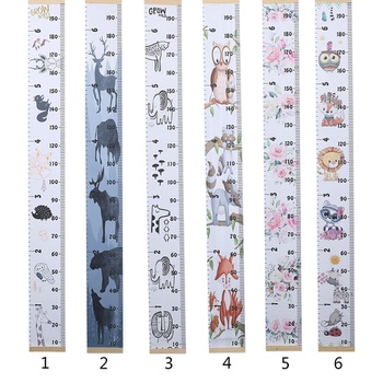 Cartoon Design Canvas Height Chart wall Decor
